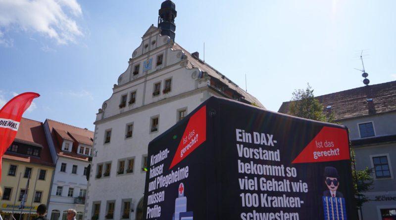 Wahlkampf der Linken in Dippoldiswalde