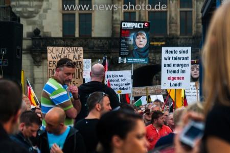 Lutz Bachmann auf der Pegida Demonstration
