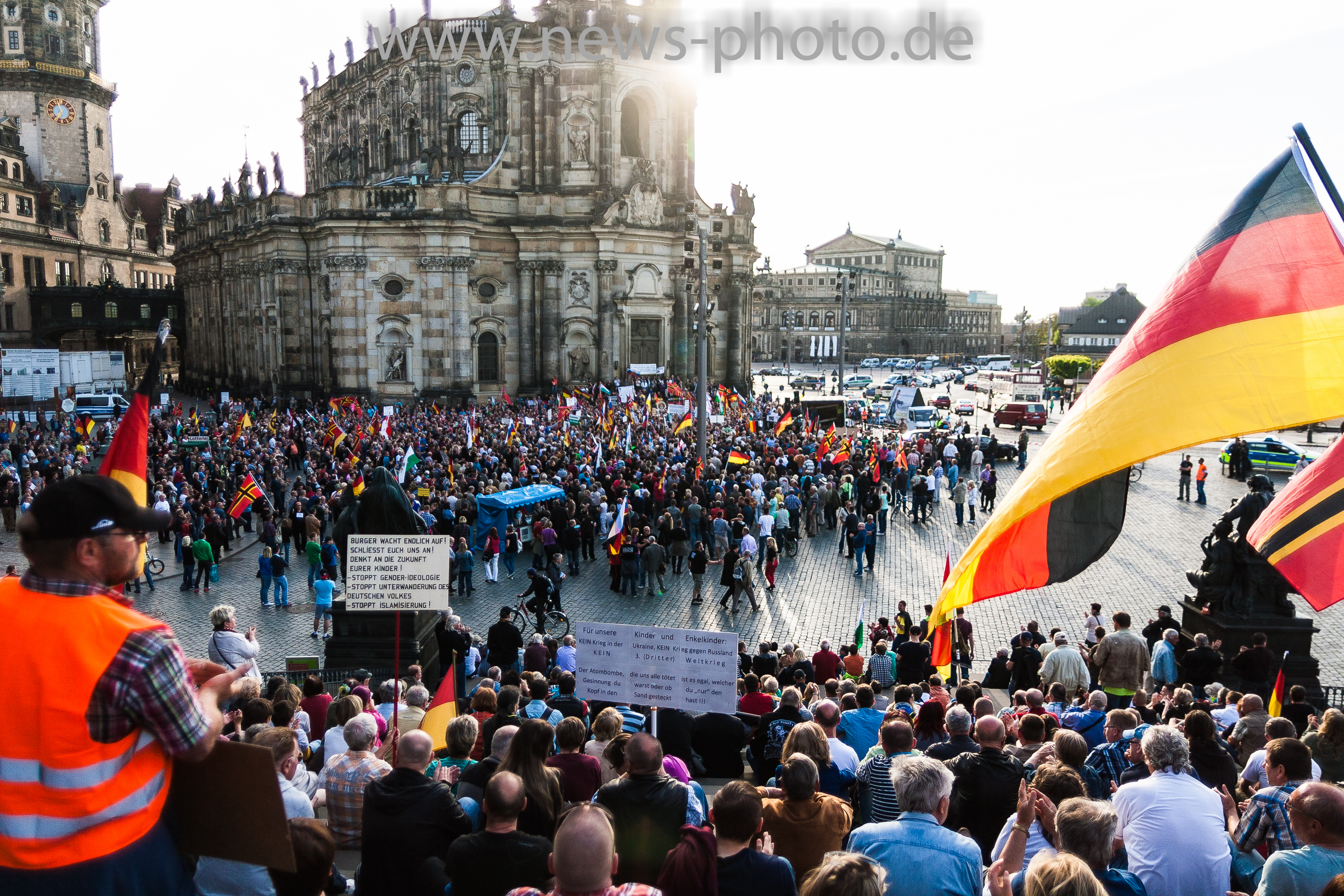 Pegida Dresden Demonstration