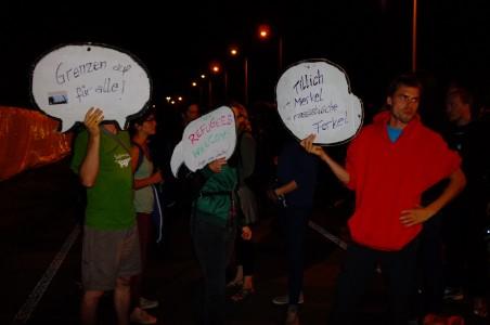 Friedlichen Protest für die Geflüchteten in Heidenau