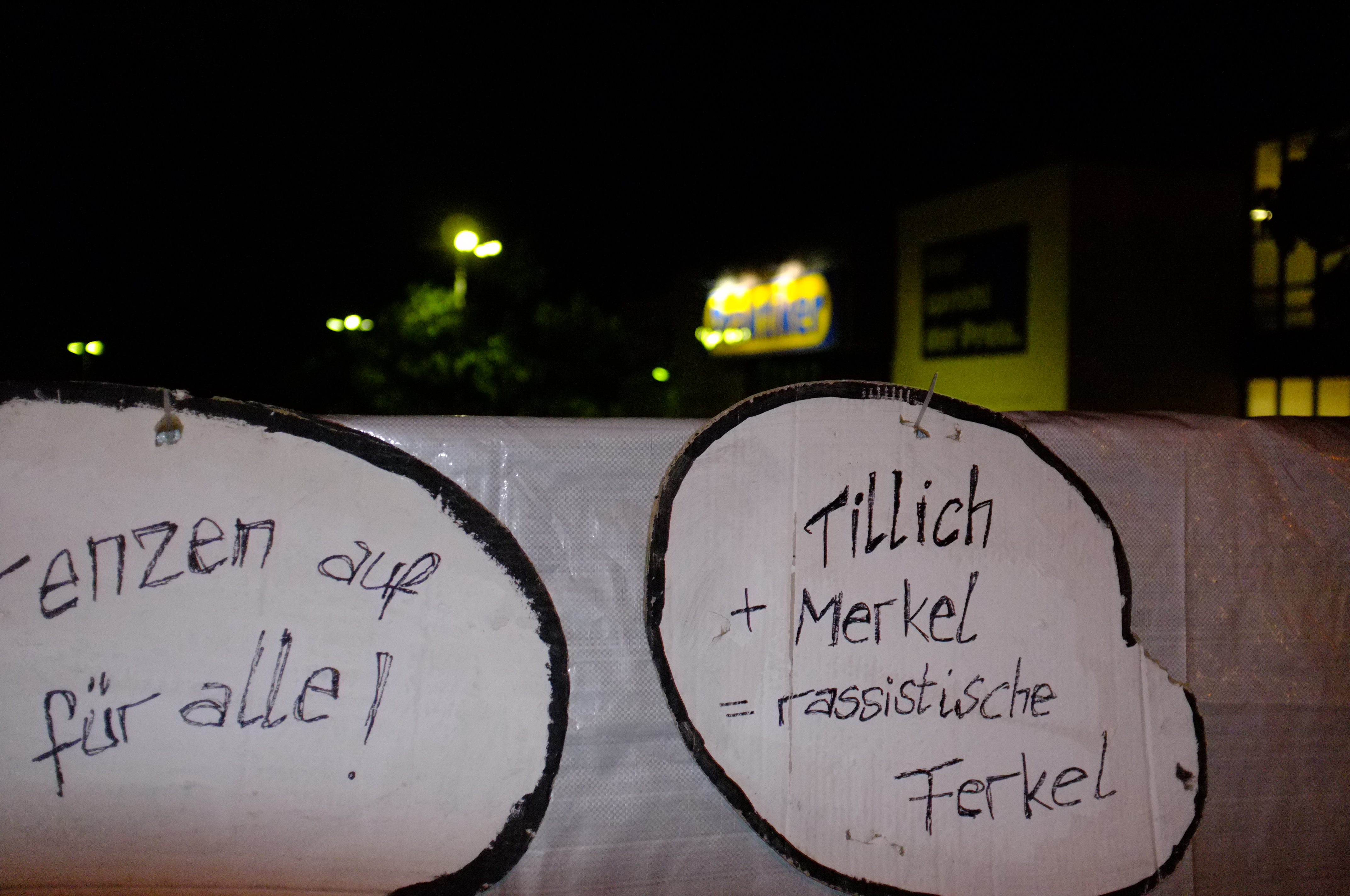 Demonstration in Heidenau
