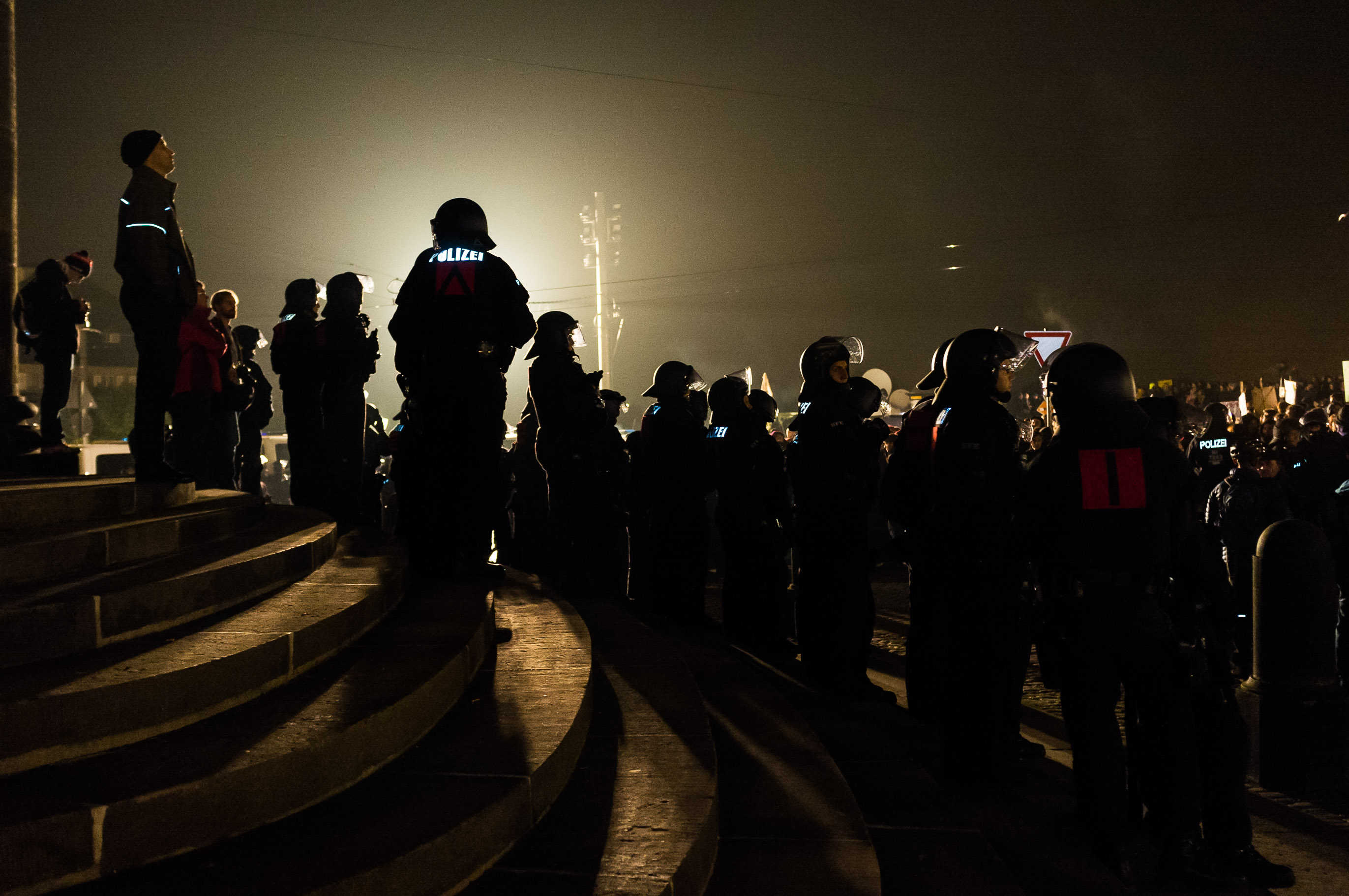 1 Jahr Pegida - Gegendemonstration