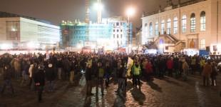 AFD Demonstration am 29.10.2015 in Dresden.