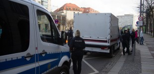 Der Lauti der Täterspuren Demonstration wurde von der Polizei angehalten