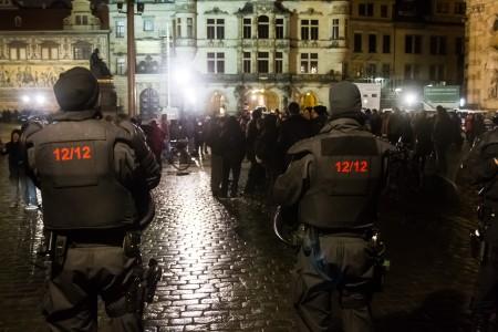 Gepida Demo auf dem Schloßplatz