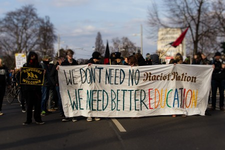 Bildung statt Rassismus Demonstration