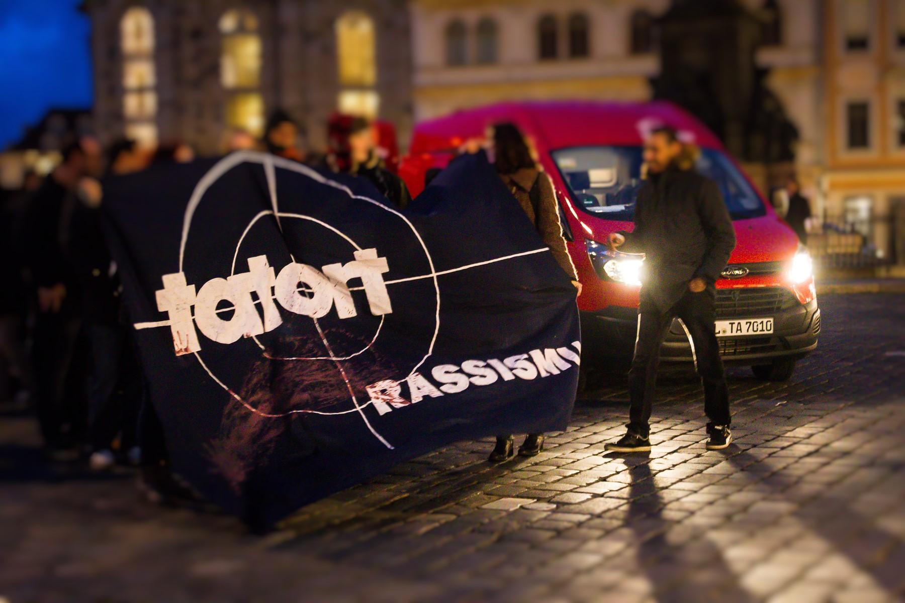 Pegida Gegendemonstration in Dresden