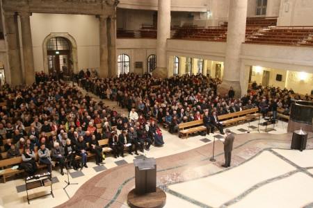 Archivaufnahme von der dritten Buergerversammlung