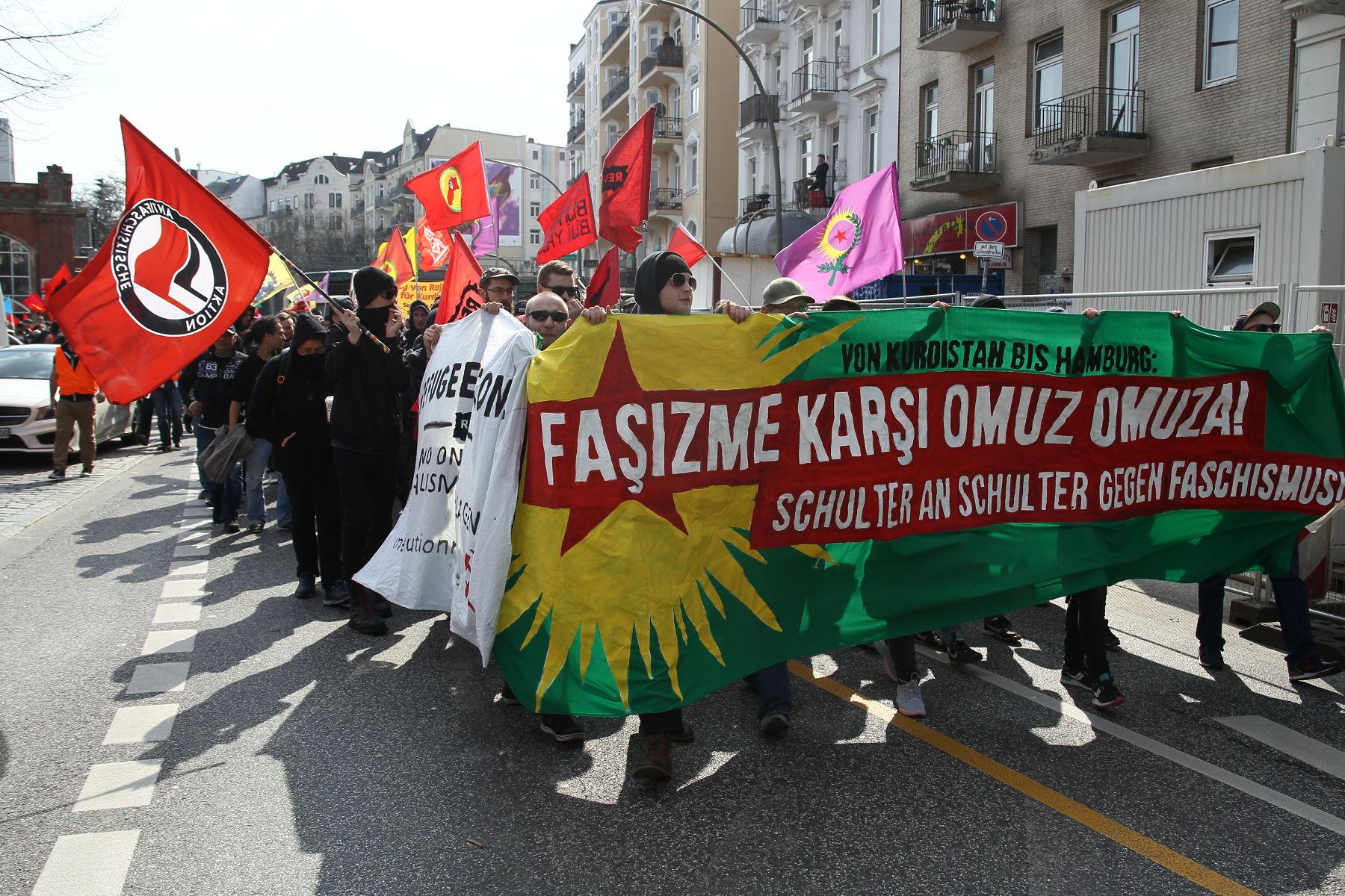 Demonstration gegen Türkische Nationalisten