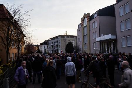 Asylfeindliche Demonstration in Laubegast