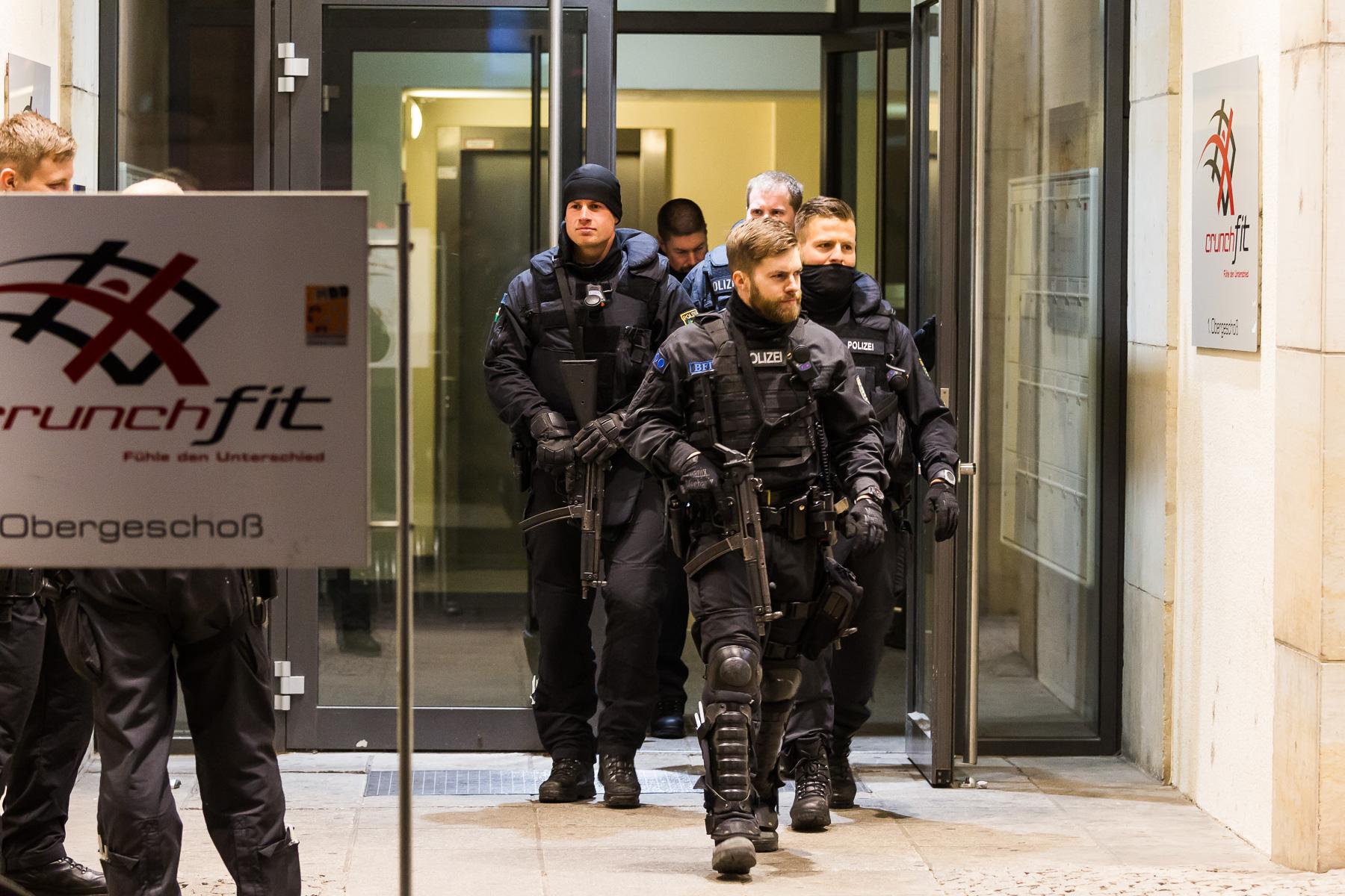 Polizei Einsatz auf der Wildsruffer Straße