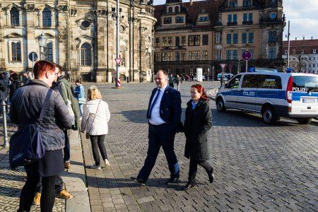 OB Hilbert am Rande der Gepida Demonstration