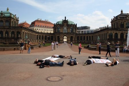 Spontane Aktion in Dresden