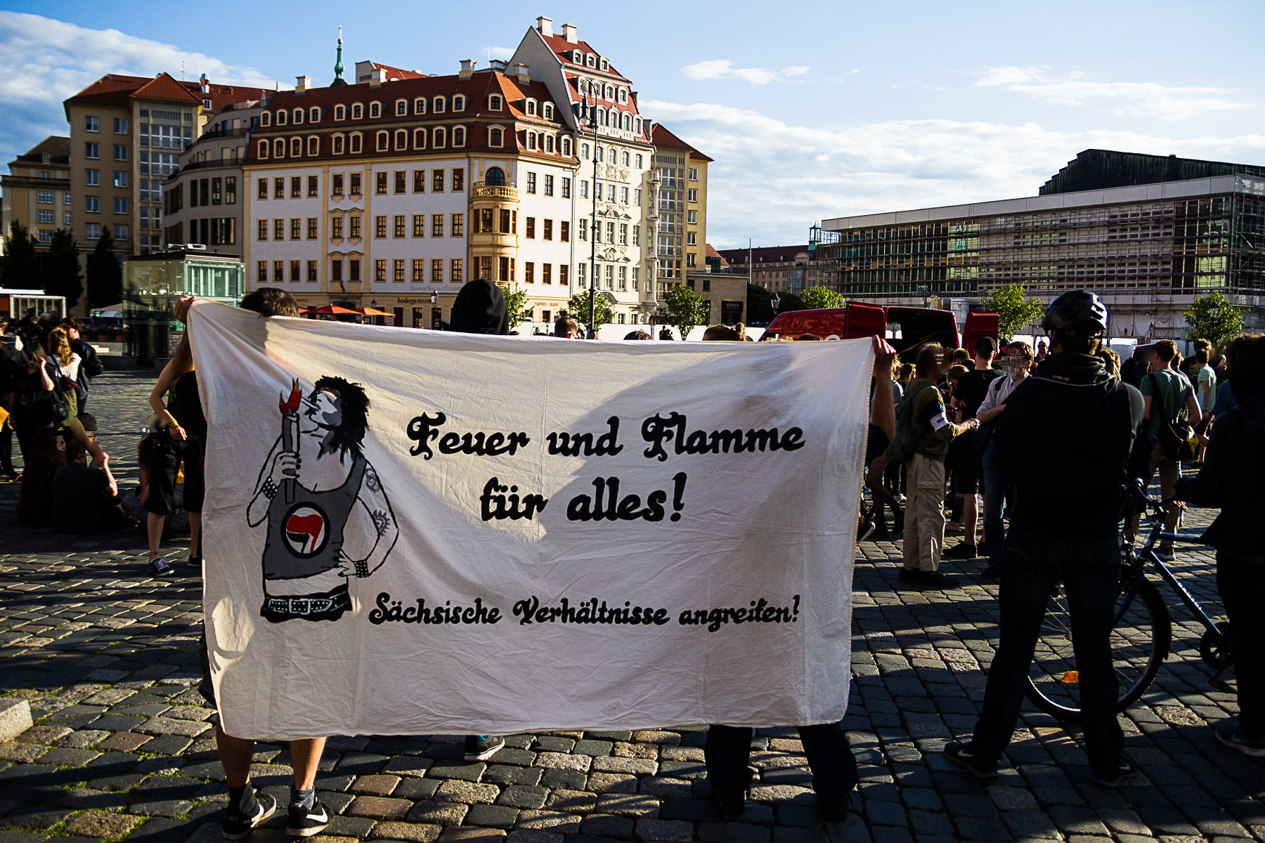 Pegida Gegendemonstration in Dresden