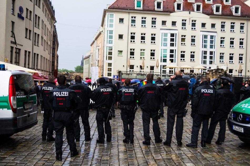 Die Nope Demonstration wurde hinter die Frauenkirche beauflagt