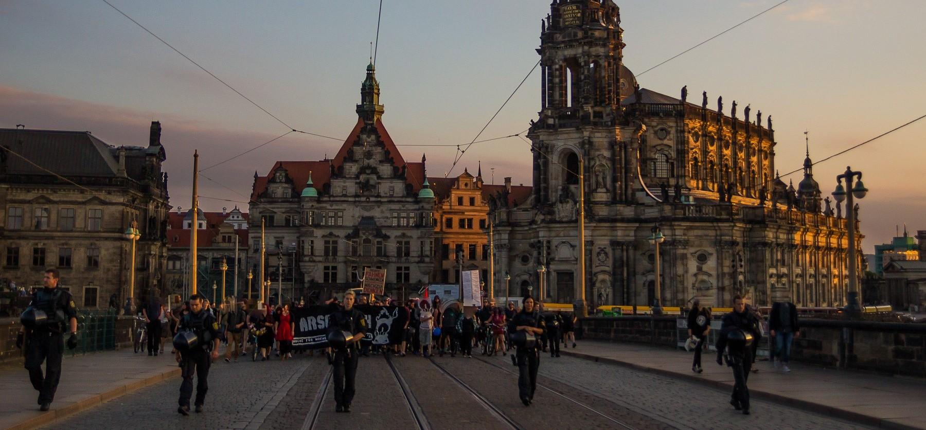Ein nicht ganz normaler Pegida Montag in Dresden