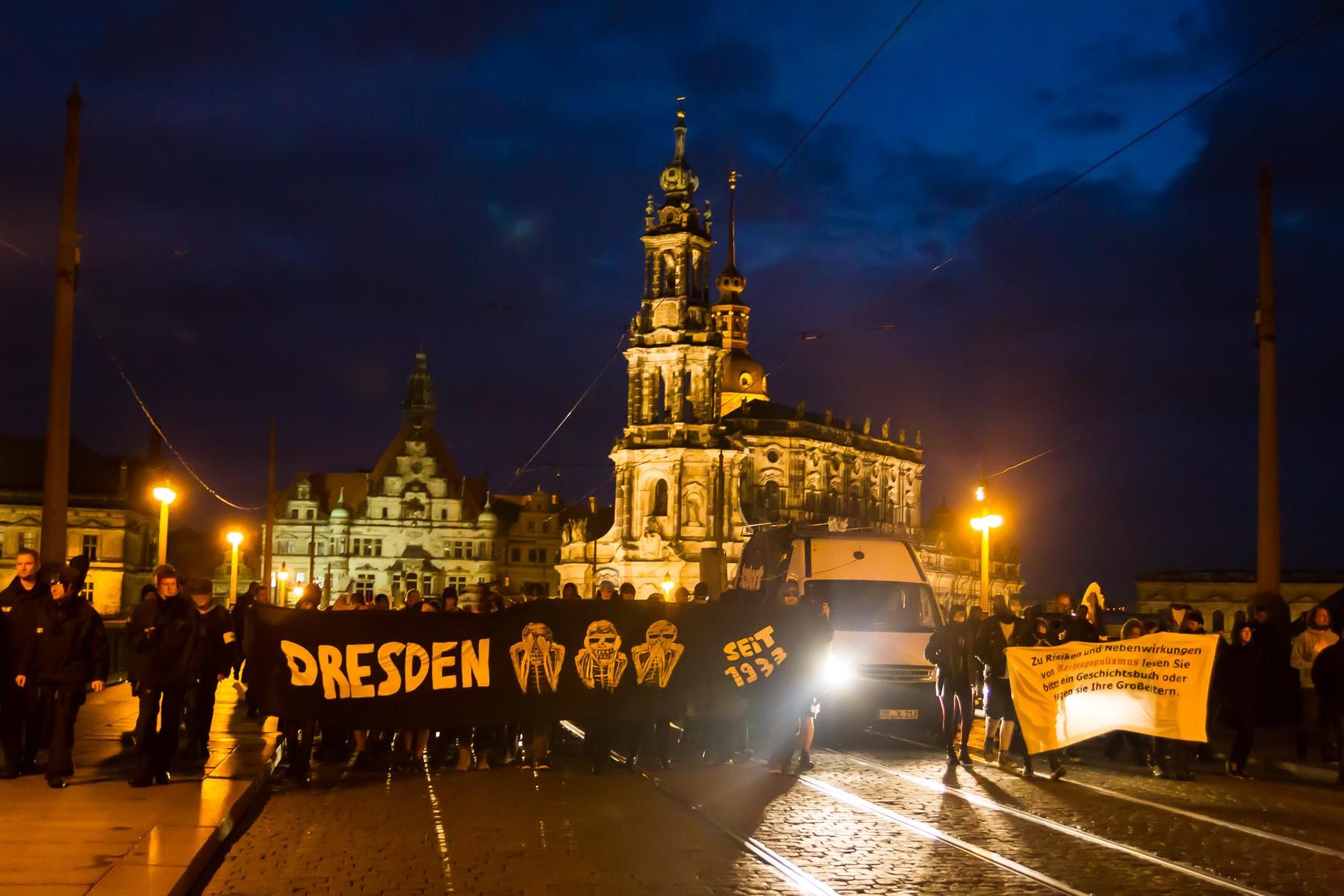 Pegida Montag in Dresden
