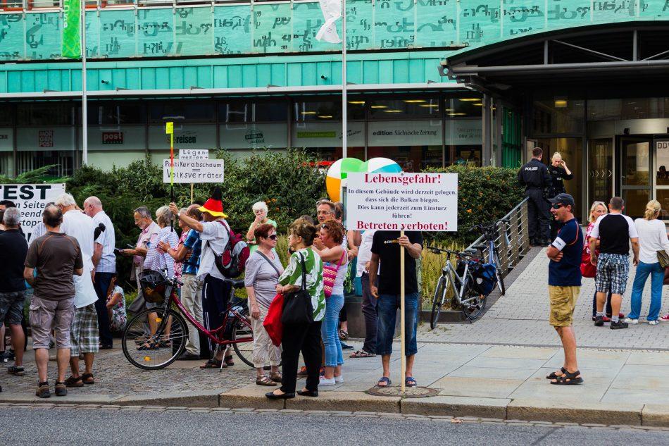 Demonstration vor der SZ