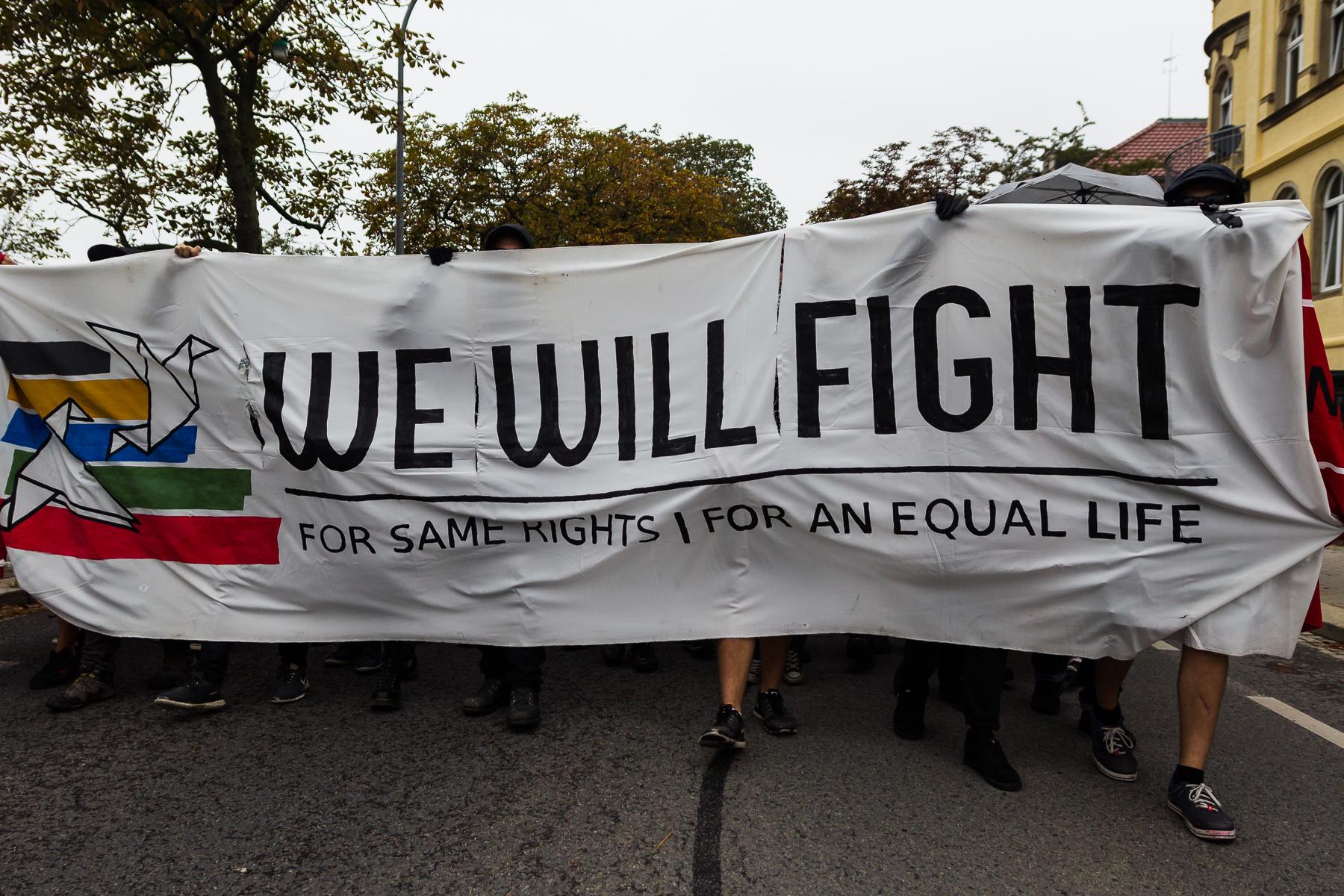 Linke Demonstration in Bautzen am 18.09.2016