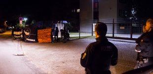 Nope Demo vor dem Verfassungsschutz