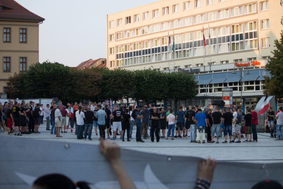Die Rechte Demonstration in Bautzen konnte nicht los gehen.