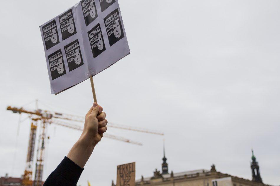 Protest vor der Frauenkirche