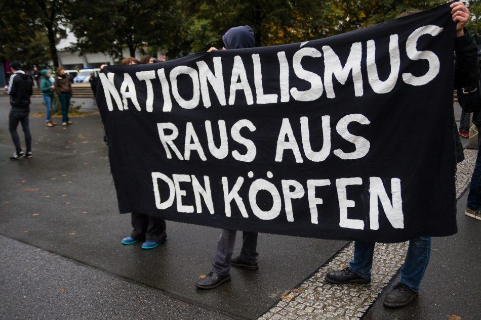 Auch am Tag der Deutschen Einheit haben Menschen gegen Pegida Demonstriert