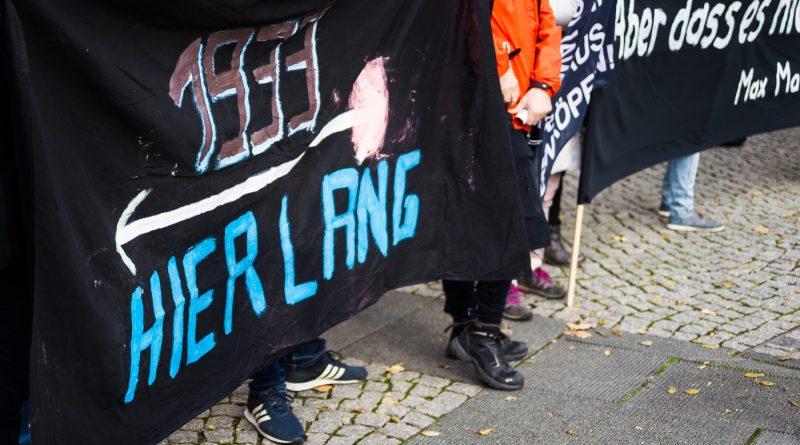 Nope Demonstration vom 31. Oktober in Dresden
