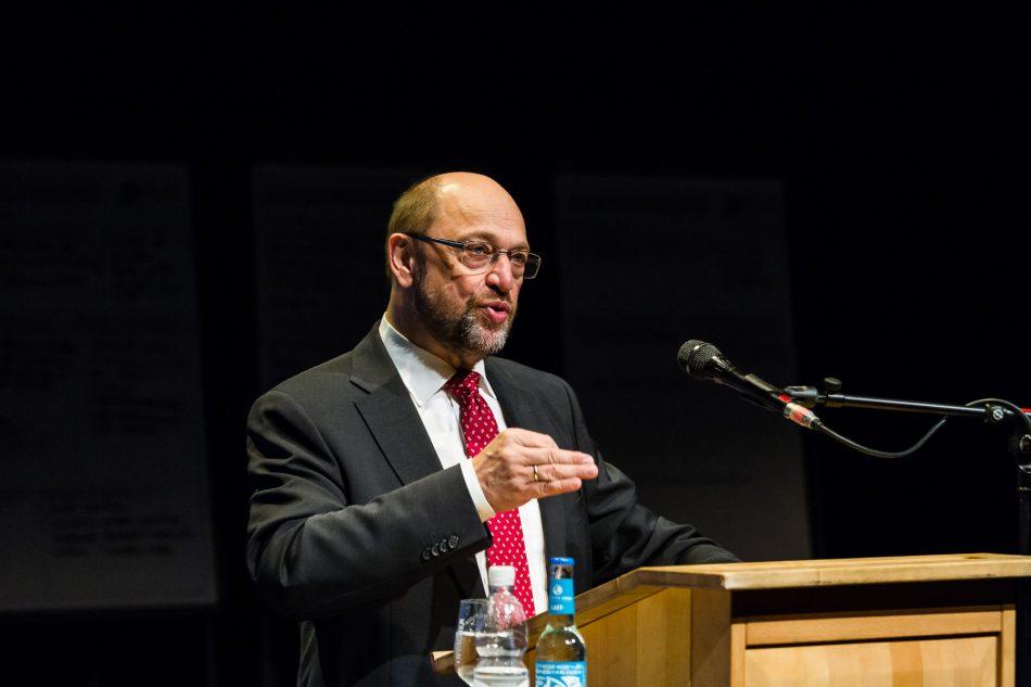 EU-Parlamentspräsident Martin Schulz beim 2gather Kongress im Festspielhaus Hellerau.