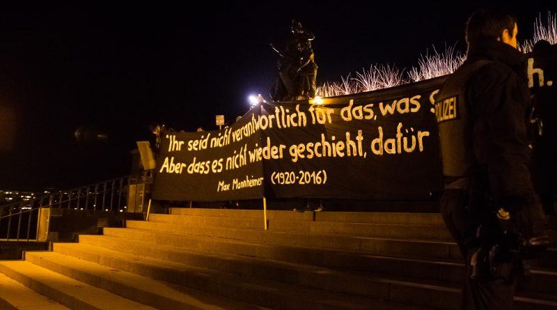 Pegida Gegenprotest auf der Brühlschen Terasse