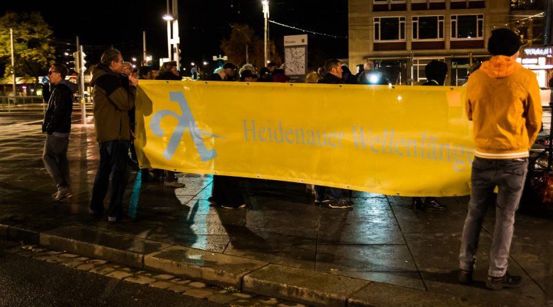 Demonstration der Heidenauer Wellenlänge in Dresden