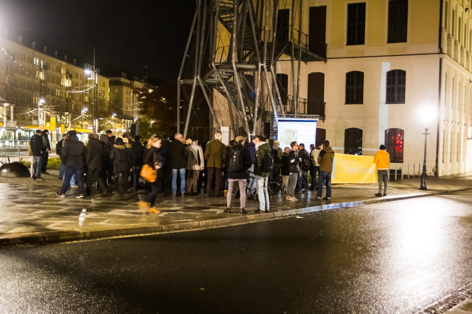 An der Demonstration der Heidenauer Wellenlänge haben sich ca. 30 Personen beteiligt