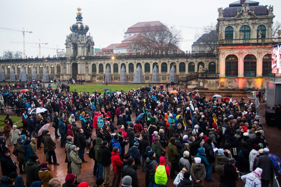 Dresden.Respekt hat zu Weihnachtsmusik in den Zwinger gelade