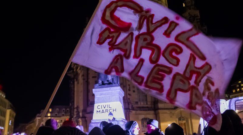 Civil march for Aleppo in Dresden