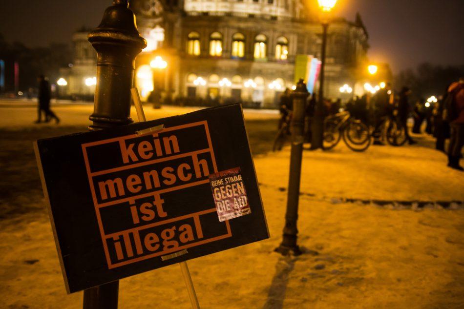 Die What Demonstration des Studentenrates der TU Dresden endete auf dem Theaterplatz