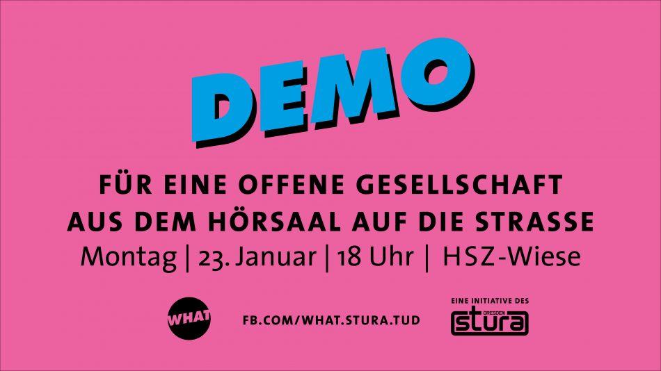 What ruft zur Demonstration vor der TU Dresden auf.