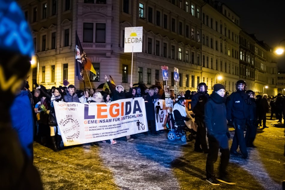 Legida Demonstration in Leipzig am 09. Januar 2017