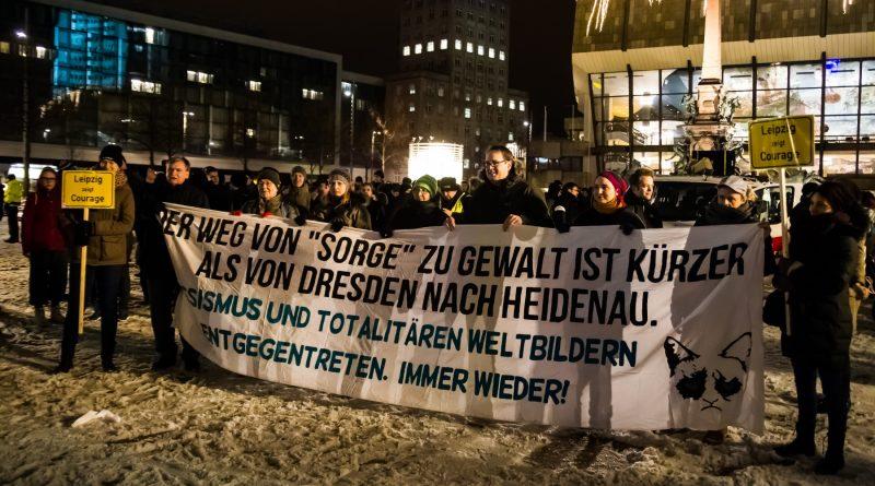 Legida Gegenprotest am 09. Januar 2017 in Dresden