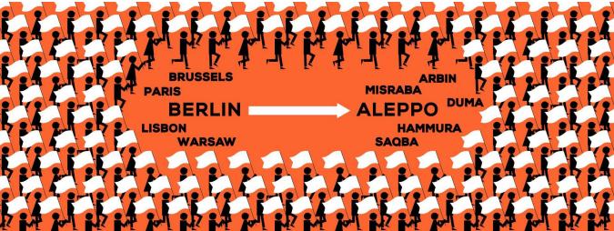 Civilmarch for Aleppo in Dresden