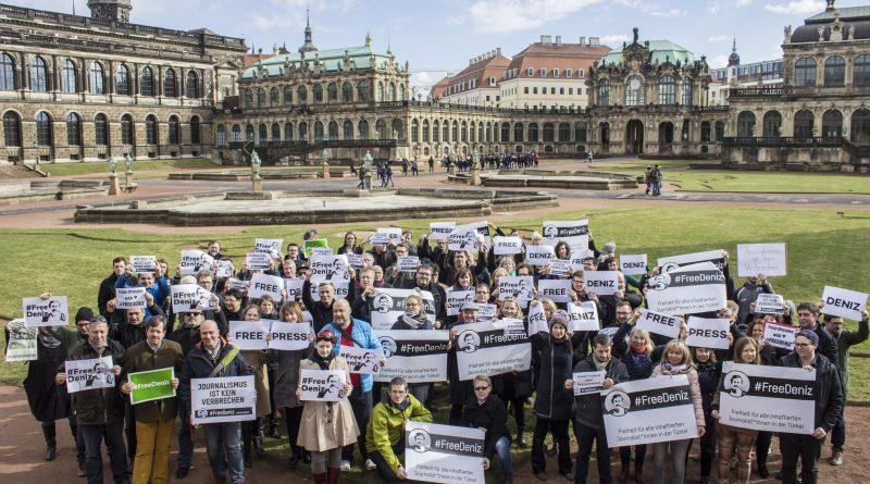 Free Denis, ein Zeichen der Solidarität aus Dresden
