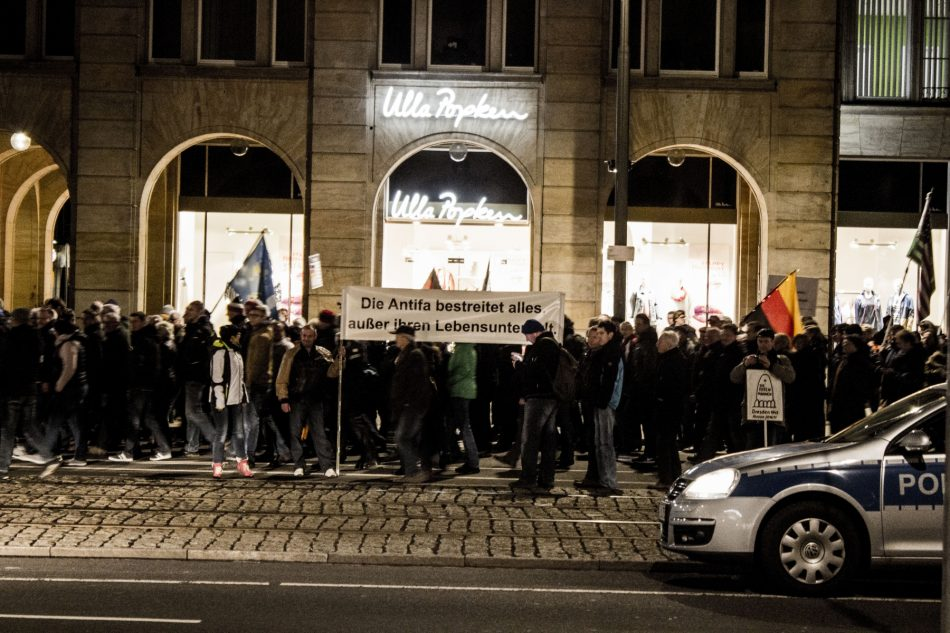 Die Pegida Demonstration am Montag in Dresden