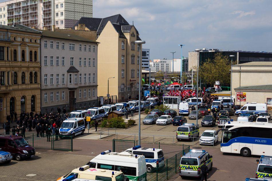 """""""Die Rechte"""" hinter dem Bahnhof von Halle."""