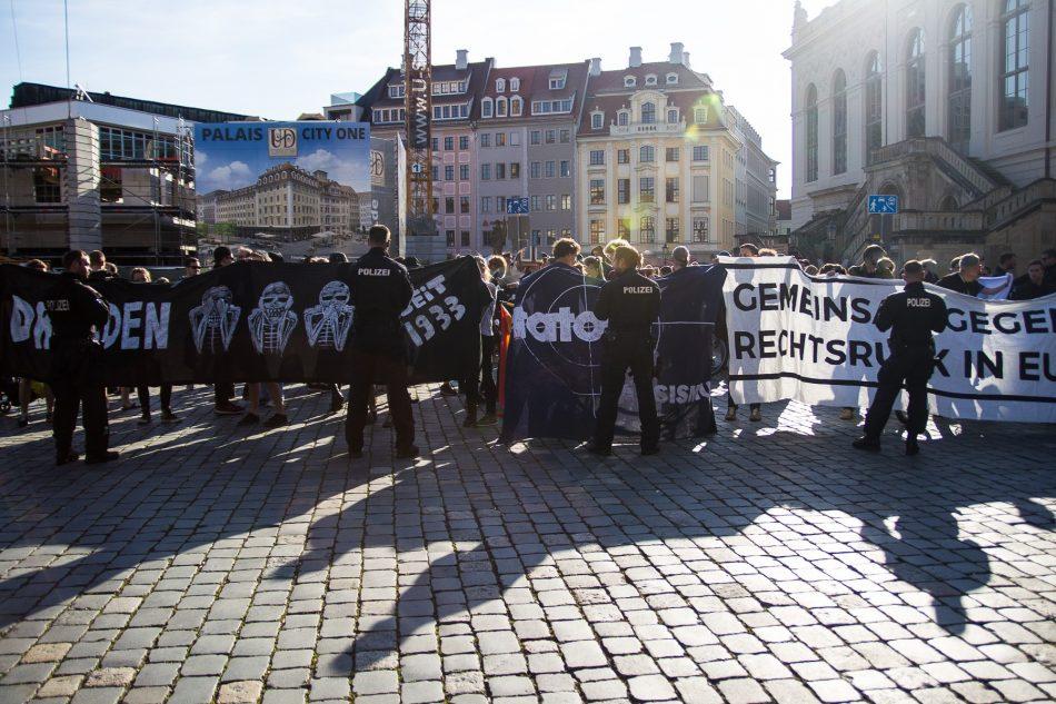Die Nope Demonstration auf dem Neumarkt
