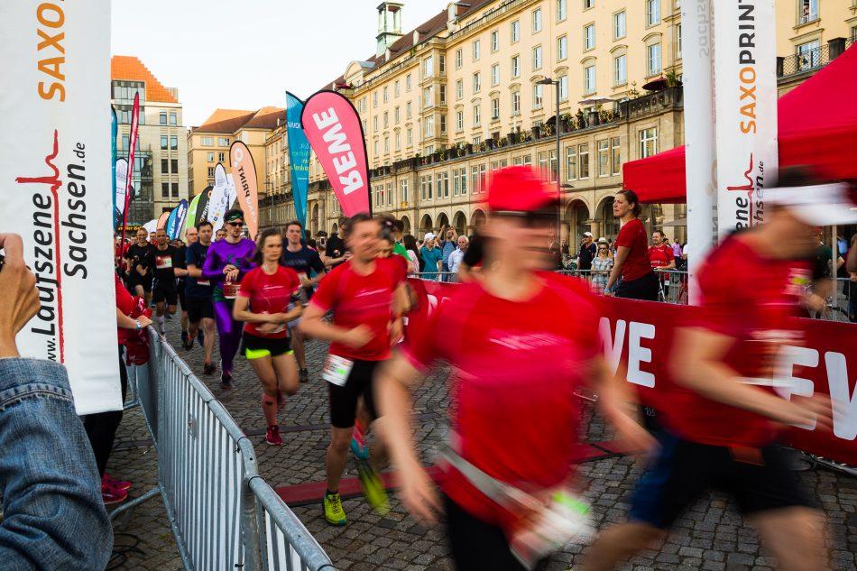 Start der ersten Welle bei der Rewe Team Challange 2017 in Dresden