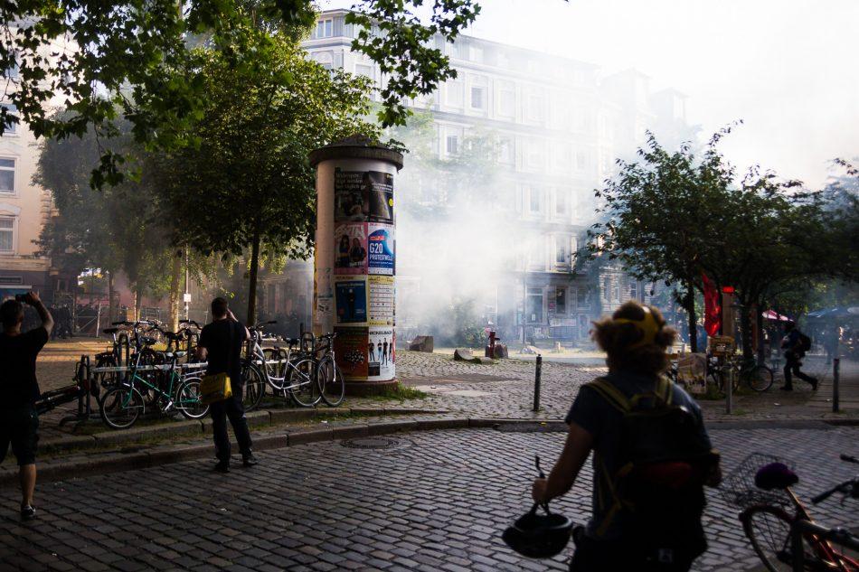 Die Polizei setze CS Gas ein