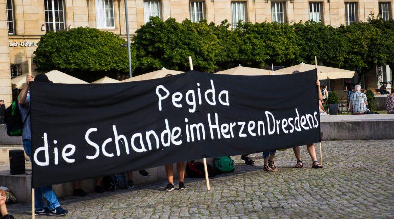 Auf heute wurde wieder gegen Pegida demonstriert