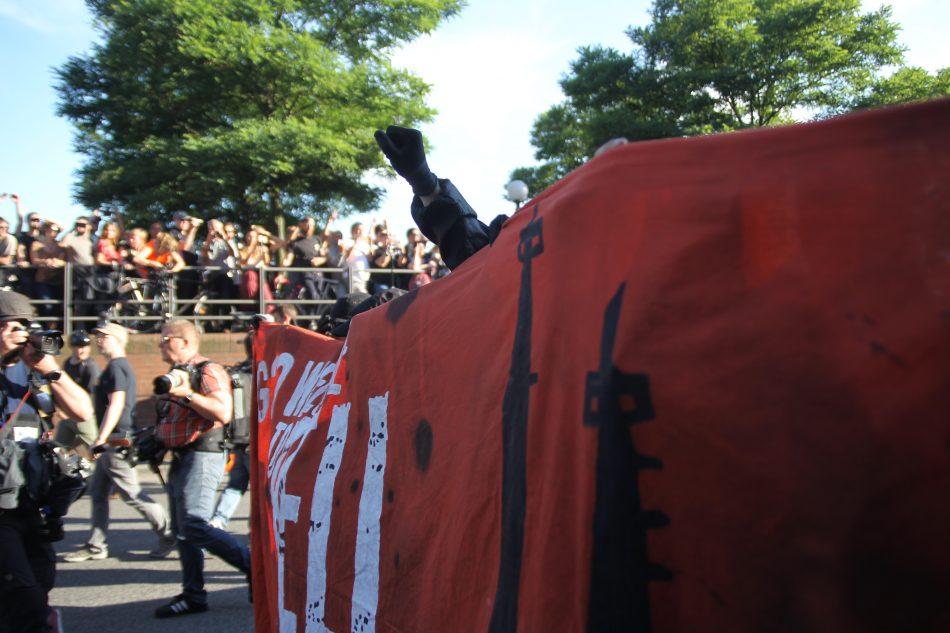 Die Demonstration wurde nach etwa 50 Metern gestoppt