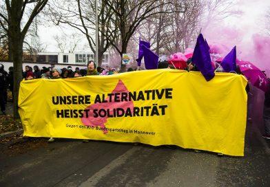 Demonstration gegen den AfD Parteitag in Hannover