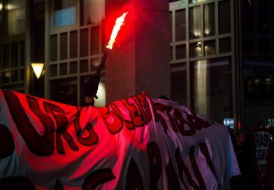Gegenprotest bei der Merkel muss weg Demonstration in Hamburg