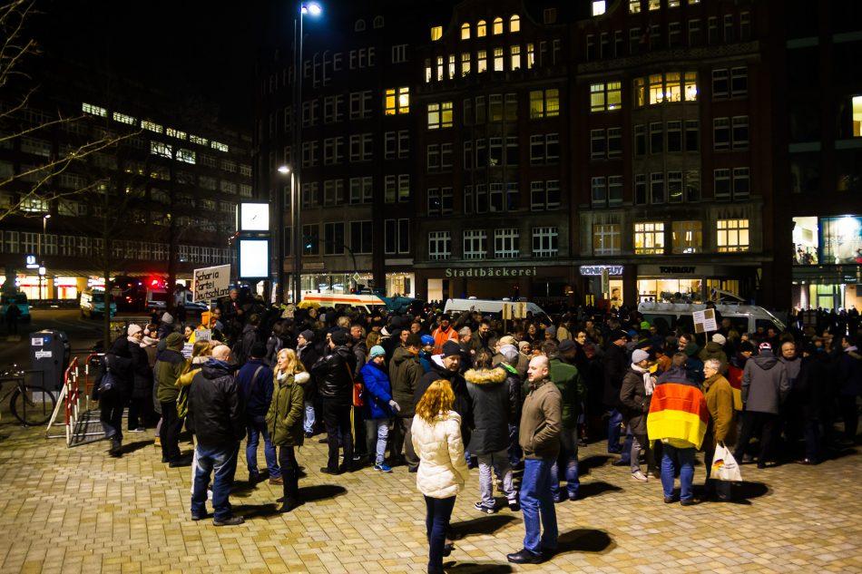 Die Merkel muss weg Demonstration in Hamburg